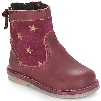 André PARME girls's Children's Mid Boots in Red. Sizes available:4 toddler,4.5 toddler,7 toddler