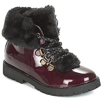 Citrouille et Compagnie JUTTER girls's Children's Mid Boots in Red. Sizes available:7 toddler,7.5 toddler,8.5 toddler,9.5 toddler