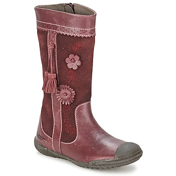 Mod'8 KLAN girls's Children's High Boots in Red. Sizes available:7.5 toddler