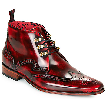 Jeffery-West SCARFACE men's Mid Boots in Red. Sizes available:7,8,9,11,12