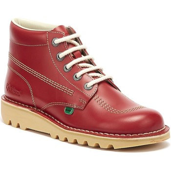 Kickers Kick Hi Mens Red Leather Boots men's Mid Boots in Red. Sizes available:7,8,9,10,10.5,11
