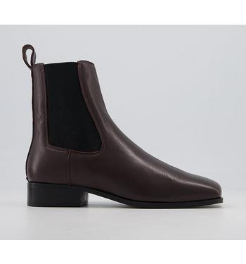 Office Angelina Square Toe Formal Chelsea Boots OXBLOOD LEATHER